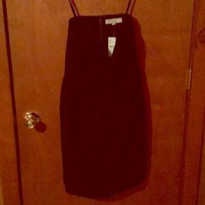 Loft little black strapless dress